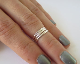 Sterling Silver Midi Ring/Knuckle Ring/Finger Ring/1.5 mm Continuous Toe Ring/Thin silver band/Stacking Rings/Skinny Ring/Above the Knuckle