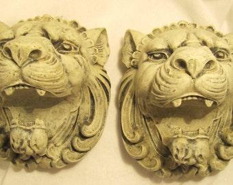 Lion Head Curtain Rod Brackets 1 Pair