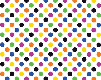 Multi color dot pattern craft  vinyl sheet - HTV or Adhesive Vinyl -  medium polka dots HTV1600