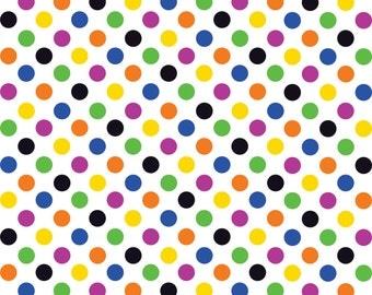 Multi color dot pattern craft  vinyl sheet - HTV or Adhesive Vinyl -  medium polka dots HTV1600