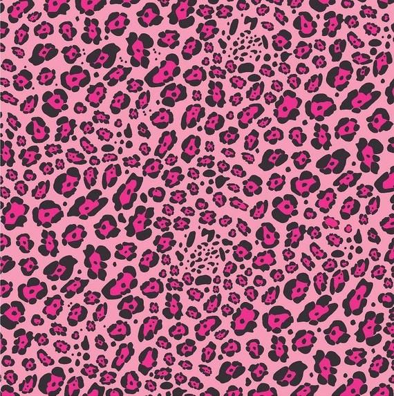 Pink Leopard print craft vinyl sheet HTV or Adhesive Vinyl