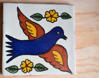 "60 Mexican Talavera Tiles handmade- Hand painted 4 ""X 4"""