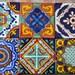 "12 Mexican Talavera Tiles handmade, Hand painted 4 ""X 4"""