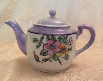 Vintage Lusterware Personal Teapot Marked Made in Japan - Excellent Condition