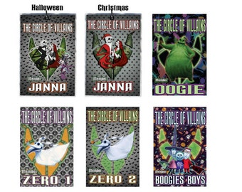 Nightmare Before Christmas Member Badges The Circle of Villains