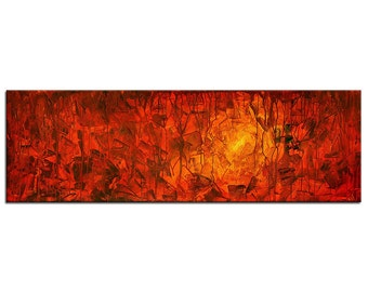 "Acrylic, abstract red painting, Original Art by AG : ""7 SCHATTEN"", Gallery of modern & contemporary  Art The Artmakers"