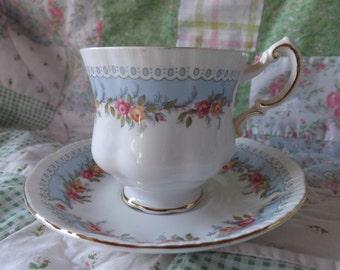 """Paragon """"Bridesmaid"""" Teacup and Saucer"""