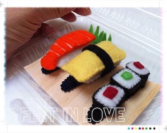 Felt Sushi Hair Barrettes/Clips