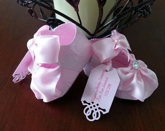 Ten Baby Girl Pink Shoe Favors / Baby Girl Shoe Favors / Shower Favors