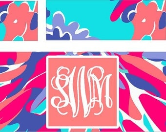Monogram Iphone Charger Wrap, Monogram Iphone charger decal (2 for 11.00)