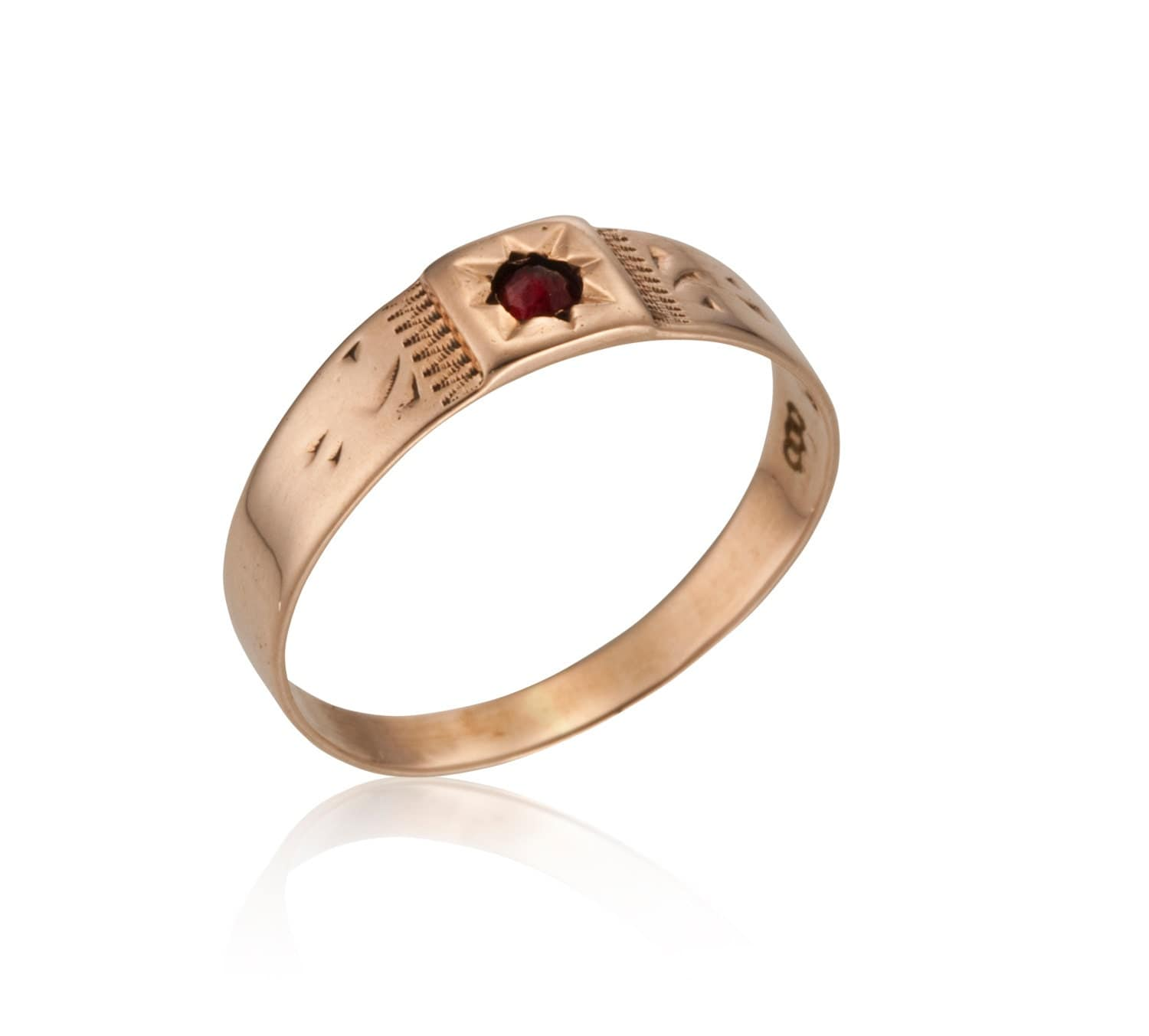 Vintage Ring Baby Red A Victorian Gold Garnet By Vicanded