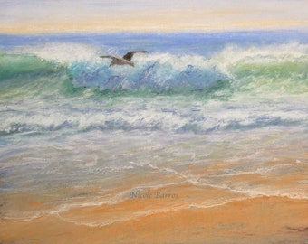 Seascape painting, PRINT, Ocean Painting, Seascape print, Ocean Print, Beach Painting, Home Decor, Sea Spray Painting. Waves painting