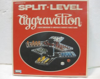 1971 Lakeside Split Level Aggravation Board Game A New Dimension To America's Favorite Game gm469