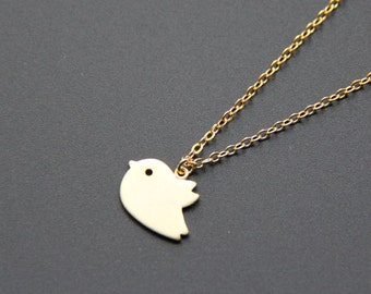 Tiny Gold Bird Pendant Necklace, Tiny bird chain, Minimalist Necklace, Everyday Jewelry, Wedding Jewelry, Bridemaids gifts, JEW000243