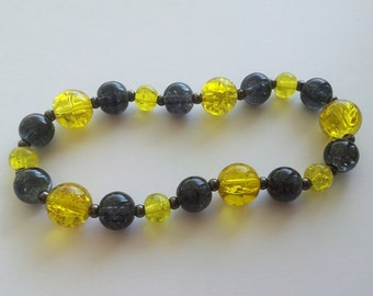 HUFFLEPUFF house colors stretch bracelet