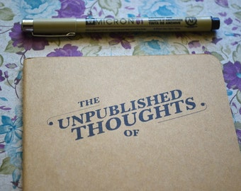 Travel Journal | Hand Stamped Unpublished Thoughts of... Moleskine