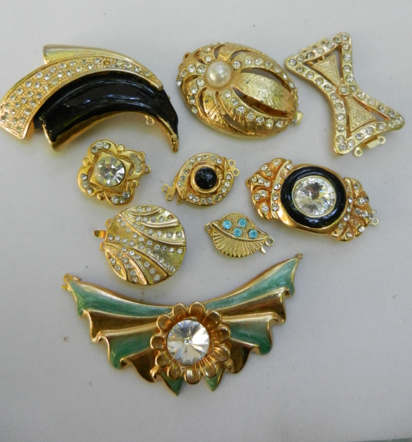 vintage clasp box clasp jewelry vintage even closures for