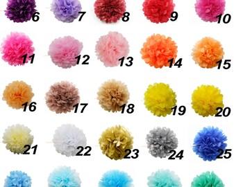 14 Tissue Paper Pom Poms,Tissue Poms, PomPom, Tissue Pom Poms ,Wedding Birthday Baby Shower Nursery Party Decoration,CHOOSE YOUR COLORS