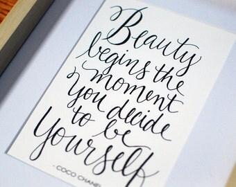 Coco Chanel Quote Print
