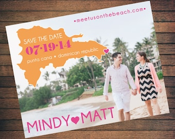 Destination Wedding Save the Date | Custom, Printable, Digital File