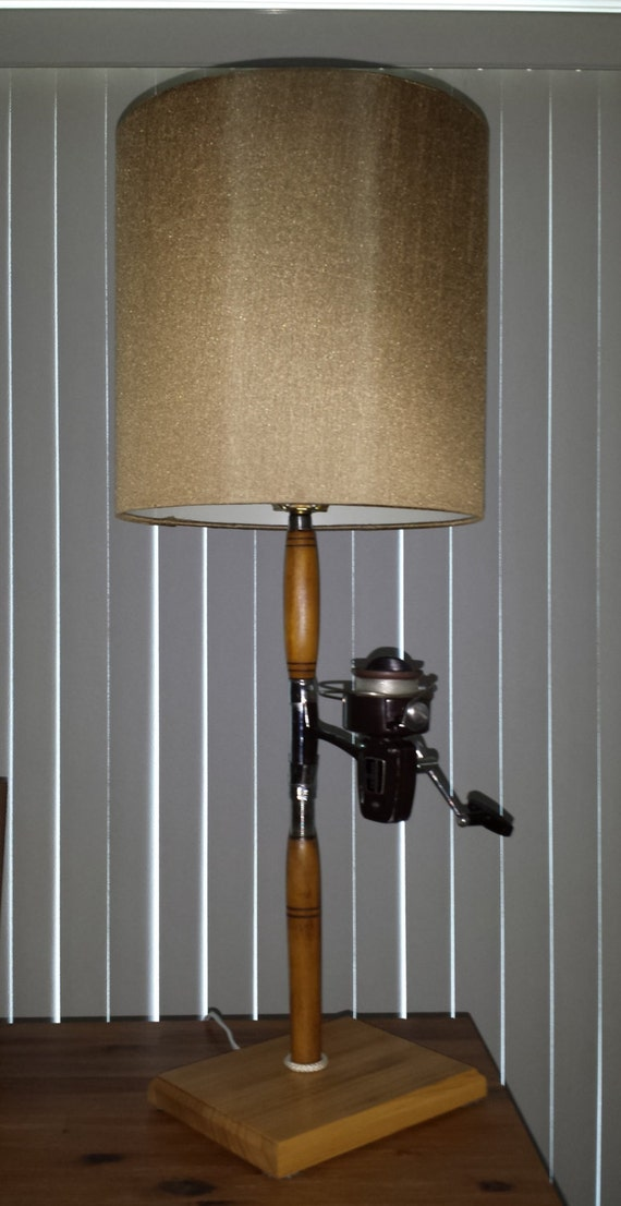 Fishing Pole Lamp Antique Nautical Lamp Rod and Reel Lamp