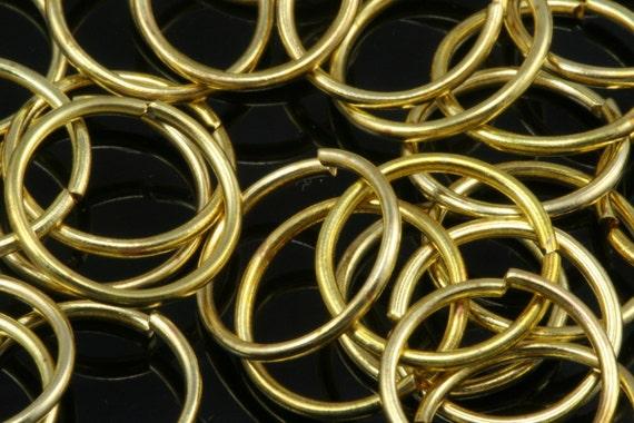 Open jump ring 200 pcs 11 mm 20 gauge( 0,8 mm )  raw brass (varnish) jumpring 1120JV-30