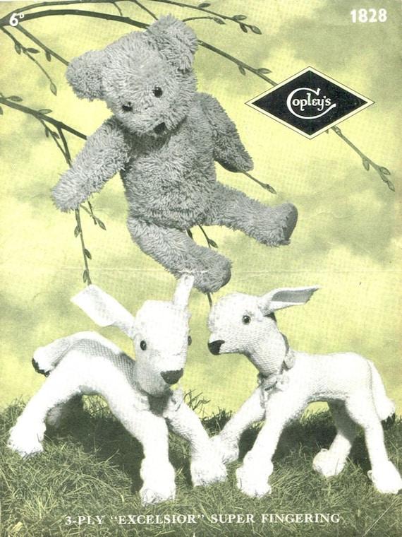 teddy bear knitting pattern pdf