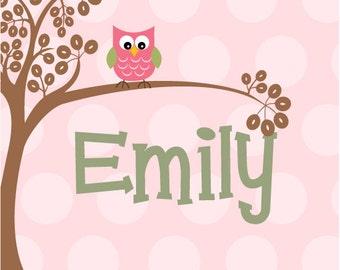 Custom Kid Art Owl