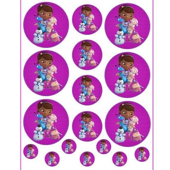 INSTANT DOWNLOAD Doc McStuffins for Balloon Stickers Doc Mcstuffins Printable Stickers