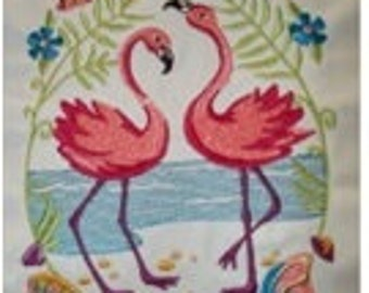 Dancing Flamingos - An apron with Florida Flair