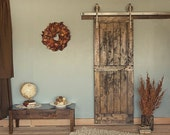 5 - 6 Ft Rustic Vintage European Sliding Steel Barn Wood Door Closet Hardware Track