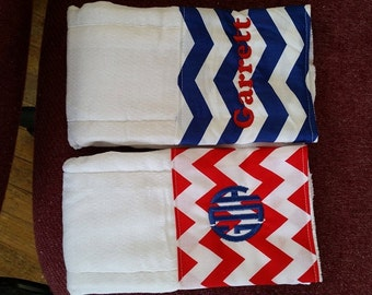 Monogrammed Burp Cloths boys/girls