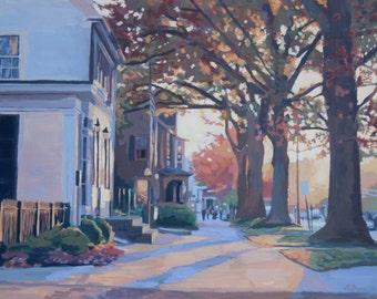 "Giclee Print  ""Haddonfield in Autumn"", Haddonfield, NJ"