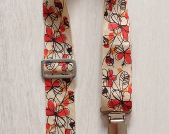 Nursing strap, breastfeeding cover autumn ribbon with bow detail