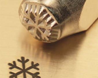 Snowflake Metal Stamp 6 mm ImpressArt Hand Tool for Metal Stamping Jewelry Winter Holiday Snow Flake Design Stamp, Steel Stamp