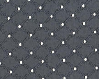 EYELET : Gray Lattice, One Yard, from Michael Miller Fabrics