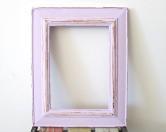 rustic photo frame distressed frame wooden picture frame pink and natural 5x7 photo