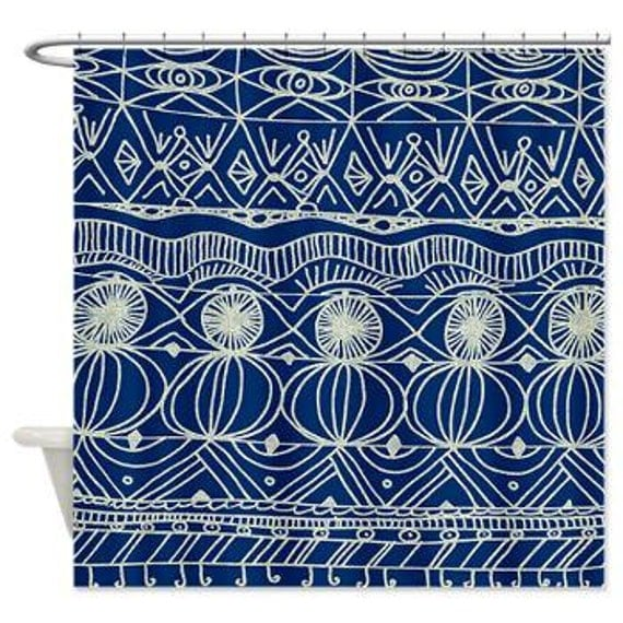 Navy Blue Shower Curtain Navy And Cream Unique Navy Blue