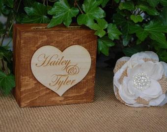 Rustic Ring Bearer Box/Shabby Chic Ring Bearer Box/Rustic Wedding Decor/Barn Wedding/Rustic Chic Ring Box/Shabby Chic Wedding Decor/Ring Box