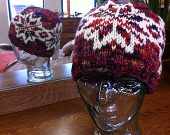 Graupel (Knitted Hat Pattern)  -INSTRUCTIONS ONLY-