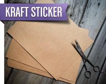 Kraft Paper Labels   Natural Kraft Sticker Paper (Quantity 1-10)   DIY Labels   Sticker Sheet   Blank Stickers 8.5x11