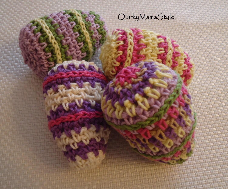 Easter Crochet Patterns For Beginners : PATTERN Striped Crochet Easter Egg