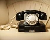 Vintage Rotary bakelit telephone TAN-6 black USSR rare Antique telephon 1964 Soviet