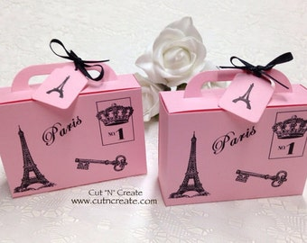 Suitcase Favor Boxes Destination Wedding Favours Suitcase Boxes Paris Favors 25 Included