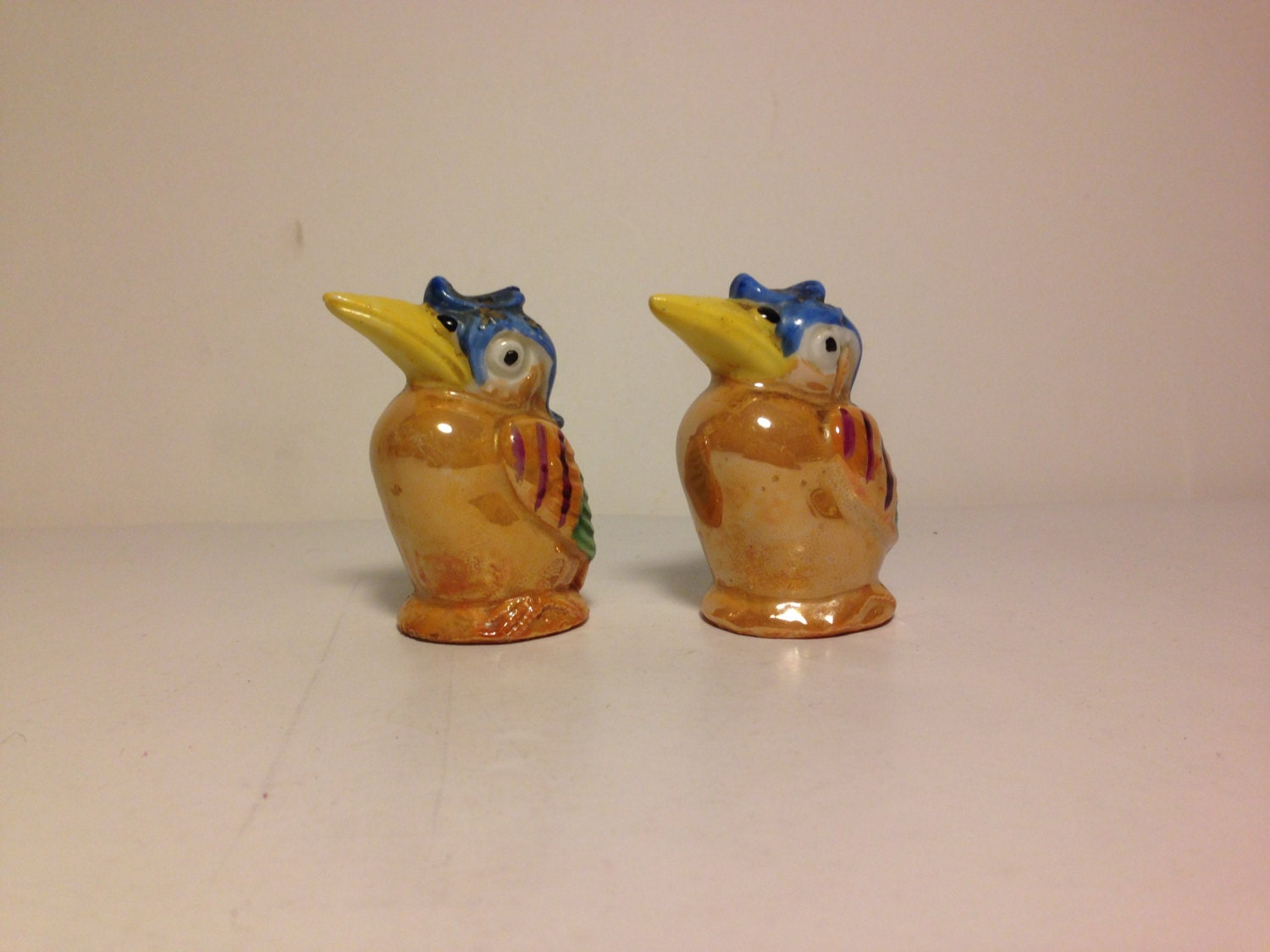Birds Salt And Pepper Shakers Made In Germany Vintage