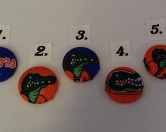 SEC U.F. Florida Gators Decorated Swivel Badge Reel.