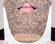 Beard Birthday Cut Out Card