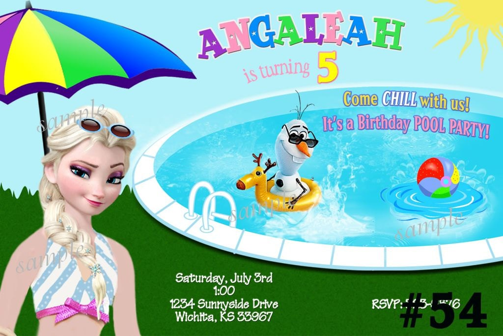 Frozen Summer Birthday Decorations Image Inspiration of Cake and – Party Invitations Frozen