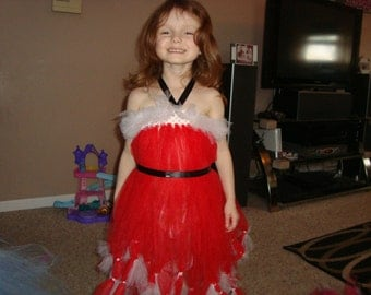 Santa inspired tutu dress, Ready to Ship!