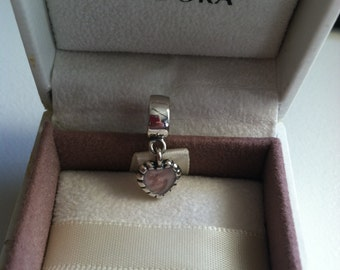 authentic pandora young love dangle charm 790471EN28 sterling silver 925 ale  new